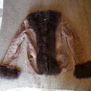 Jackets & Blazers - Vintage Penny Lane Mongolian/Suede Coat